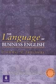 The 	language of business English : grammar & function