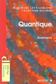 Quantique : rudiments