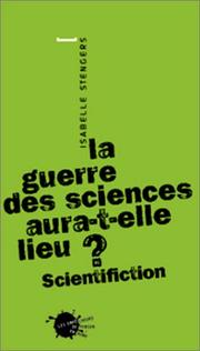 La 	guerre des sciences aura-t-elle lieu ? : scientifiction